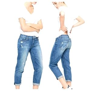 NWT~ MOTHER The Dropout Rough it up Ankle Jeans